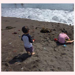 夏休みに岩海岸〜海に行きました〜